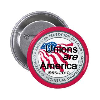 Botón de uniones del Día del Trabajo Pins