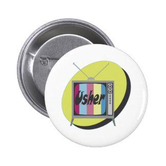 Botón de Usher del boda Pin Redondo De 2 Pulgadas