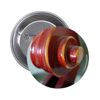 Botón de voluta del violoncelo pin redondo de 2 pulgadas