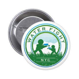 ¡Botón de WaterFight NYC! Pin Redondo De 2 Pulgadas