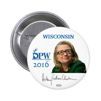 Botón de Wisconsin Pinback del funcionario de Pin Redondo De 2 Pulgadas
