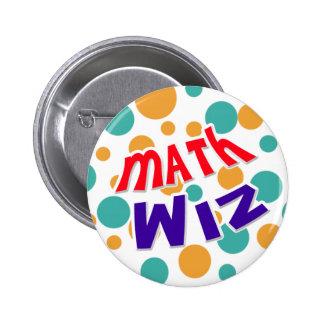 Botón de Wiz de la matemáticas Pins