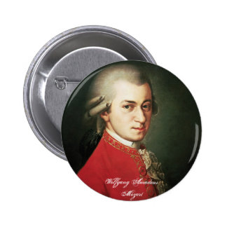Botón de Wolfgang Amadeus Mozart Pins