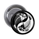 Botón de Yang del hueso de pescados Pins