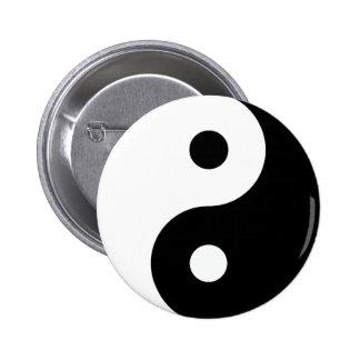 Botón de Yin Yang Pin Redondo De 2 Pulgadas