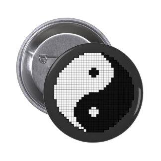 Botón de Yinyang del pixel Pin