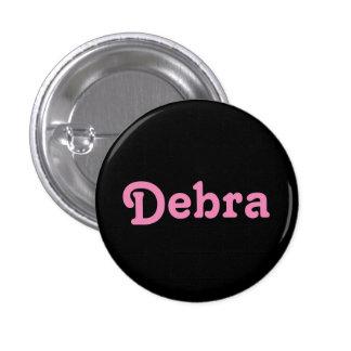 Botón Debra Pin Redondo De 1 Pulgada