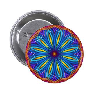 Botón decorativo del medallón de Starburst Pin Redondo De 2 Pulgadas