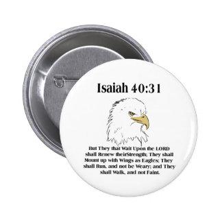 Botón del 40:31 de Isaías Pins