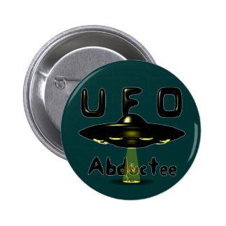 Botón del Abductee del UFO Pin Redondo De 2 Pulgadas