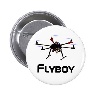 Botón del abejón del hexacopter del Flyboy Pin Redondo De 2 Pulgadas