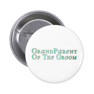 Botón del abuelo de los novios pin redondo de 2 pulgadas