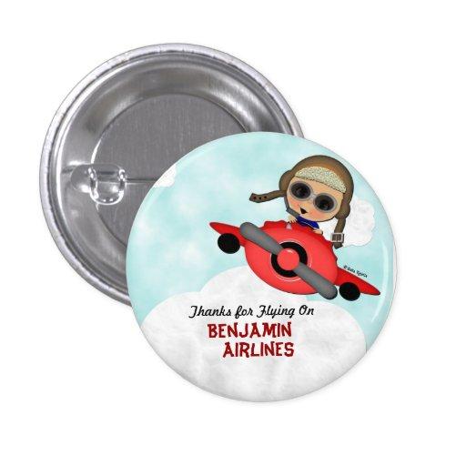 Botón del aeroplano del cumpleaños