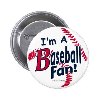 Botón del aficionado al béisbol pin