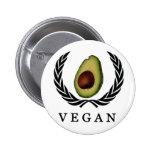 Botón del aguacate del vegano pin