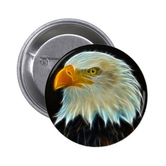 Botón del águila calva pin redondo de 2 pulgadas