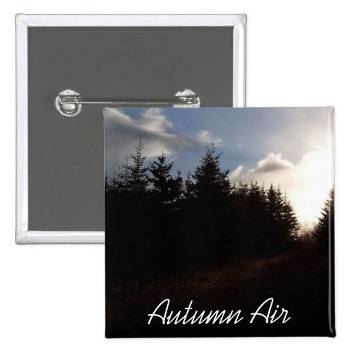Botón del aire del otoño pin cuadrado