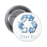 Botón del aire limpio pins