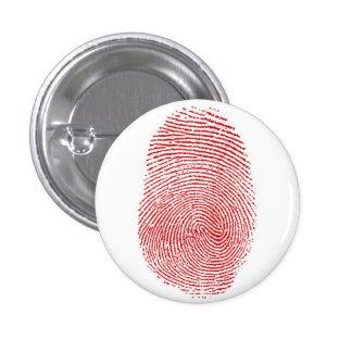 Botón del álbum de las huellas dactilares pin redondo de 1 pulgada