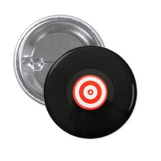 Botón del álbum de registro de LP del vinilo Pin Redondo De 1 Pulgada