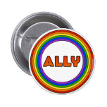 Botón del aliado de GLBT Pin Redondo De 2 Pulgadas