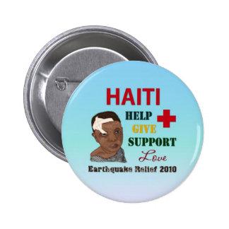 Botón del alivio 2010 del terremoto de Haití Pin