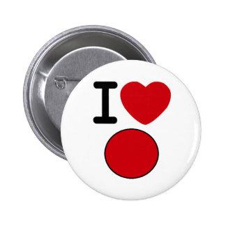 Botón del alivio de Japón Pins