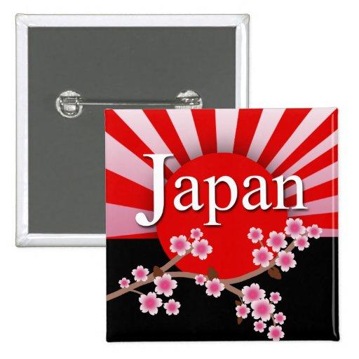 Botón del alivio del terremoto de Sakura del sol n Pins