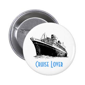 Botón del AMANTE de la TRAVESÍA Pin Redondo De 2 Pulgadas