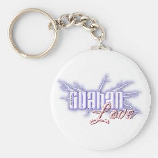 Botón del amor de Guahan Llavero Redondo Tipo Pin