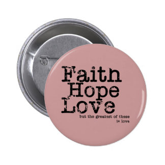 Botón del amor de la esperanza de la fe del vintag pins