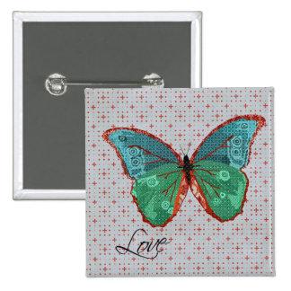 Botón del amor de la mariposa de Boho Pin