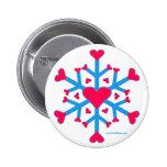 Botón del amor de la nieve pins