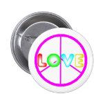 botón del amor de la paz pin