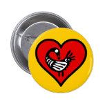 Botón del amor de Sankofa Pin