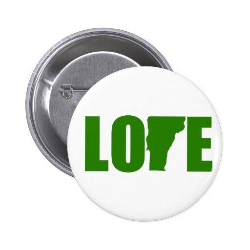 Botón del amor de Vermont Pins