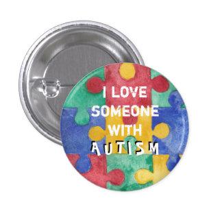 Botón del amor del autismo pin redondo de 1 pulgada