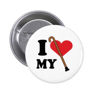 Botón del amor del bastón