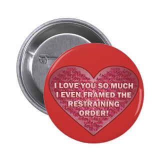 Botón del amor del orden de detención