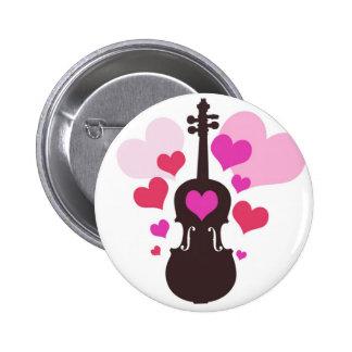 Botón del amor del violín