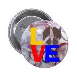 Botón del amor y de la paz pins