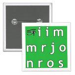 Botón del anagrama de Jim Morrison Pin