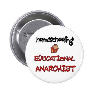 botón del anarquista del homeschool pin redondo de 2 pulgadas