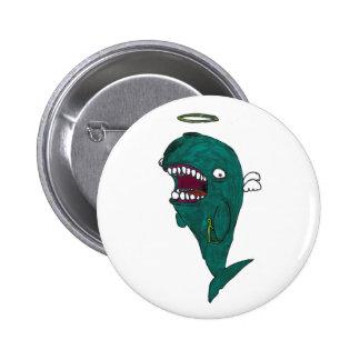 Botón del ángel de la ballena pin redondo de 2 pulgadas