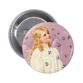 Botón del ángel de Pascua del Victorian Pin Redondo De 2 Pulgadas