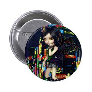 """""""Botón del ángel de Shinjuku"""" Pin Redondo De 2 Pulgadas"""