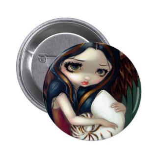"""""""Botón del ángel del nautilus"""" Pin Redondo De 2 Pulgadas"""