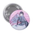 """Botón del """"ángel imperfecto"""" (rojo) pin"""