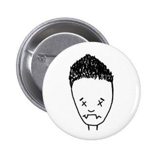 Botón del ángel pin redondo de 2 pulgadas