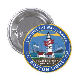 Botón del aniversario de la luz de Boston 300o Pin Redondo De 1 Pulgada